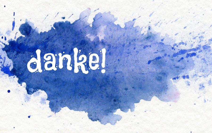 Bild von dem Produkt Auf blauen Dunst - Danke! Vorderseite