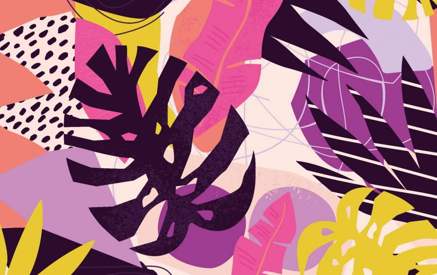 Bild von dem Produkt Blumenblätter abstrakt Vorderseite