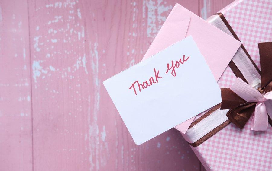 Bild von dem Produkt Dankeskarte Vorderseite