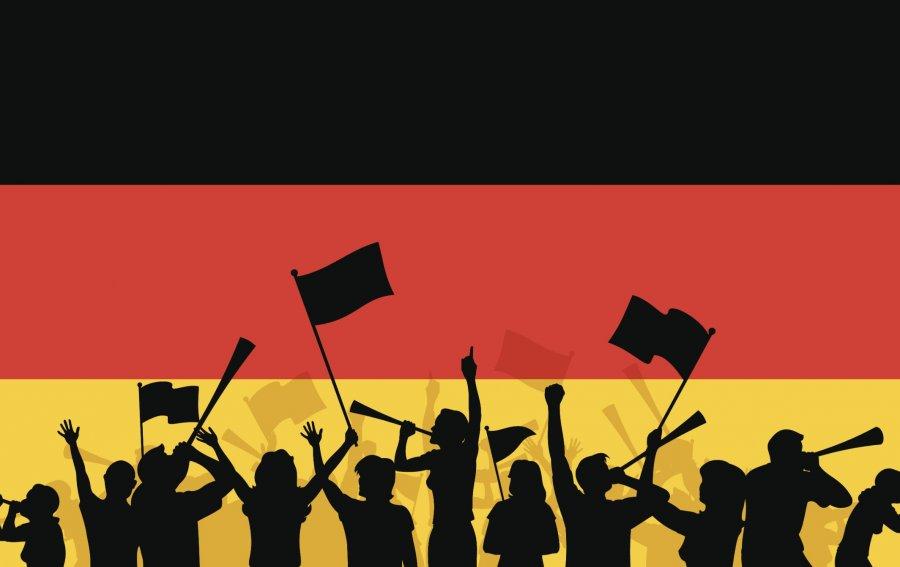 Bild von dem Produkt Deutsche Fußball-Fans Vorderseite