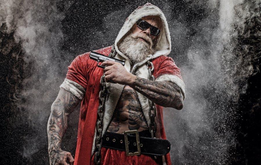 Bild von dem Produkt Gangster Weihnachtsmann Vorderseite