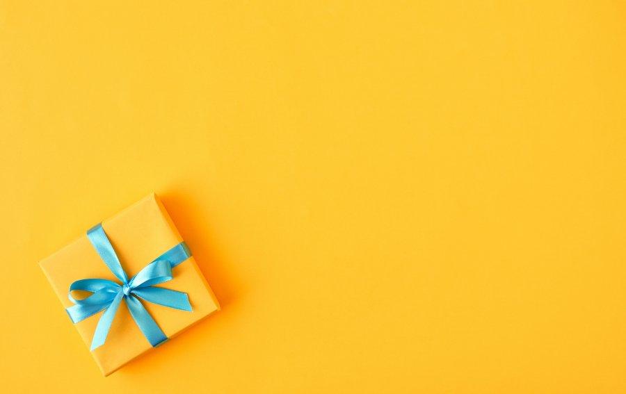 Bild von dem Produkt Gelbes Geschenk Vorderseite