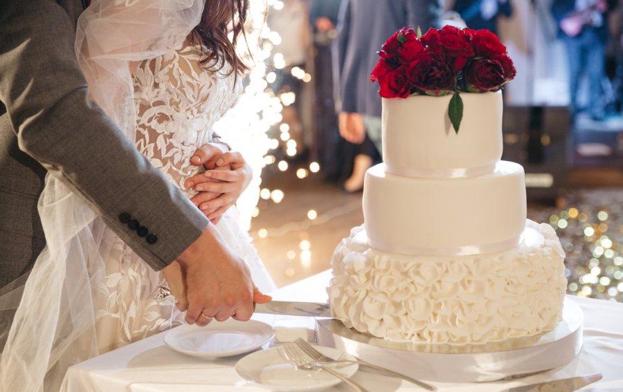 Bild von dem Produkt Hochzeitstorte Vorderseite