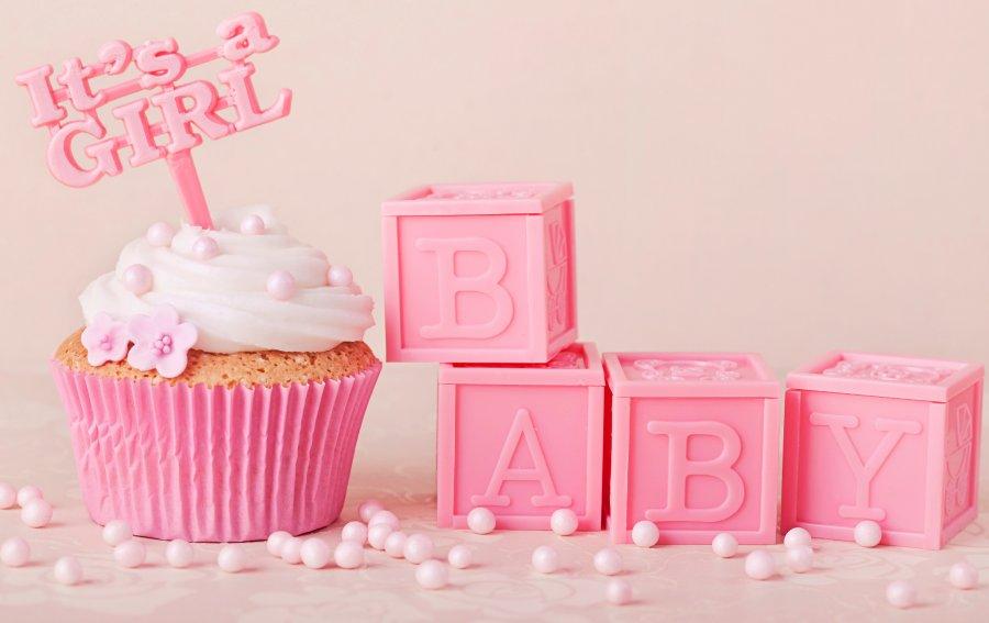 Bild von dem Produkt It's a Girl Cupcake Vorderseite