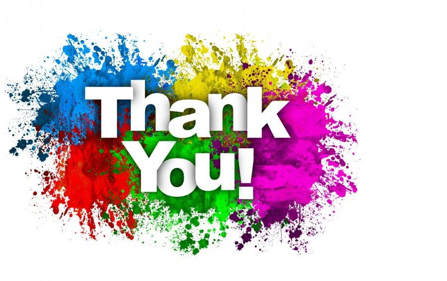 Bild von dem Produkt Knalliges Thank You! Vorderseite
