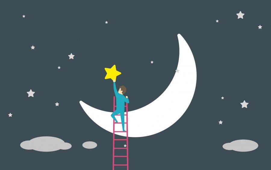 Bild von dem Produkt Mond und Sterne Vorderseite
