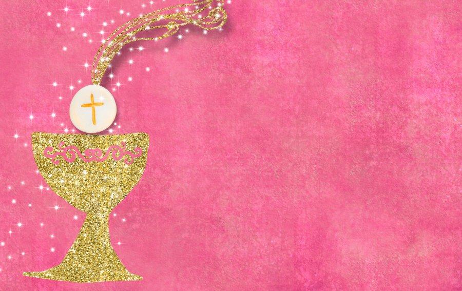 Bild von dem Produkt Taufe Mädchen pink Vorderseite