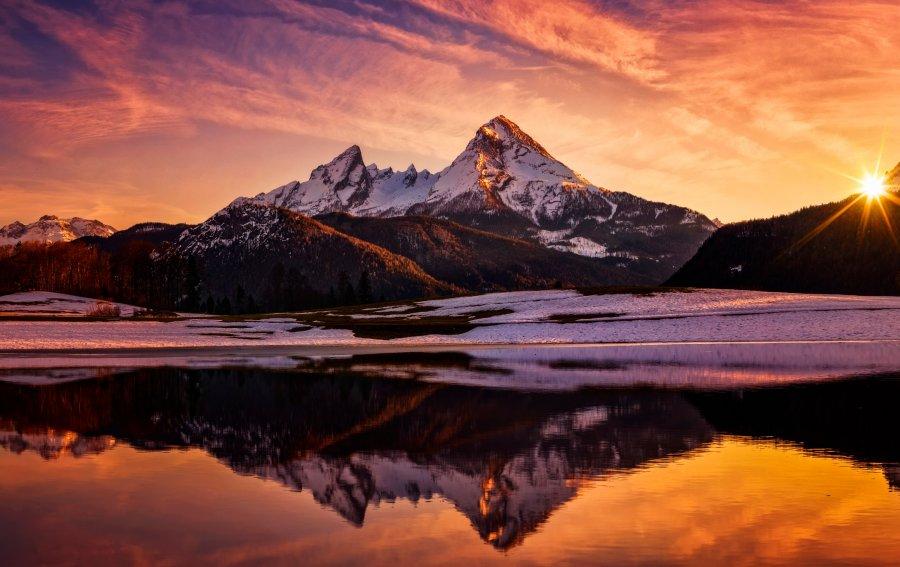 Bild von dem Produkt Watzmann in den Alpen Vorderseite