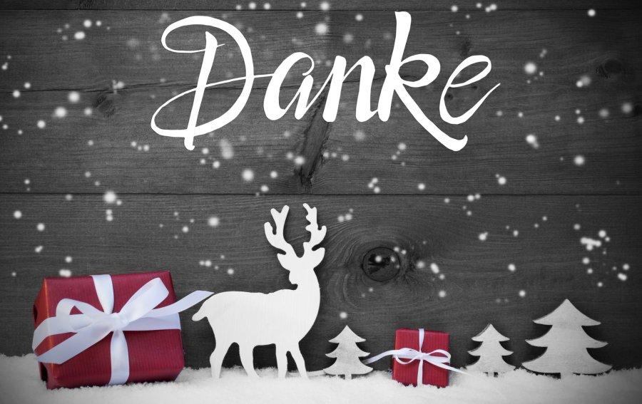 Bild von dem Produkt Weihnachtlicher Dankesgruß Vorderseite
