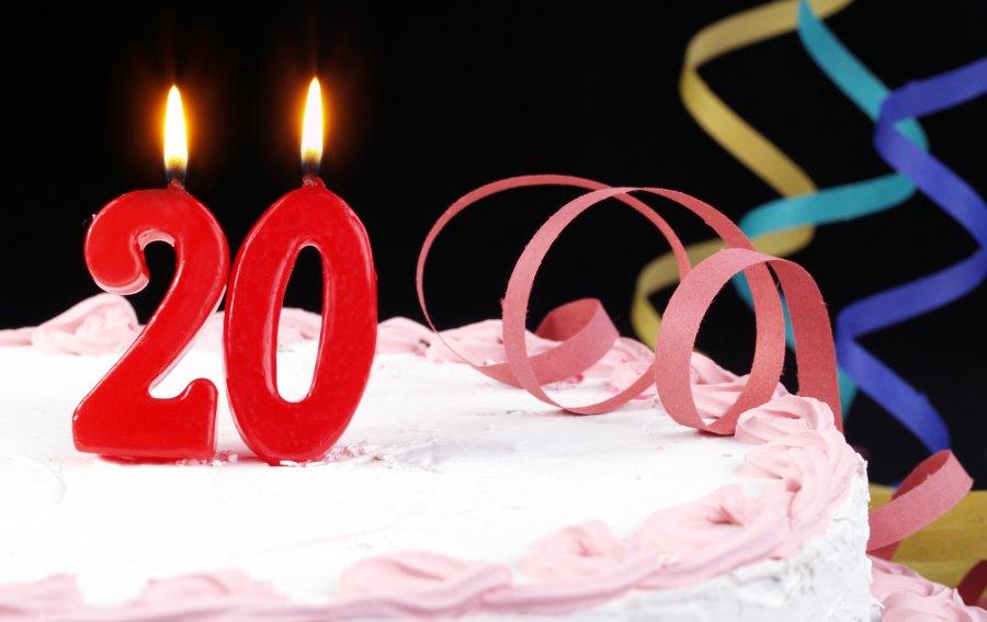 Bild von dem Produkt Zum 20. Geburtstag Vorderseite