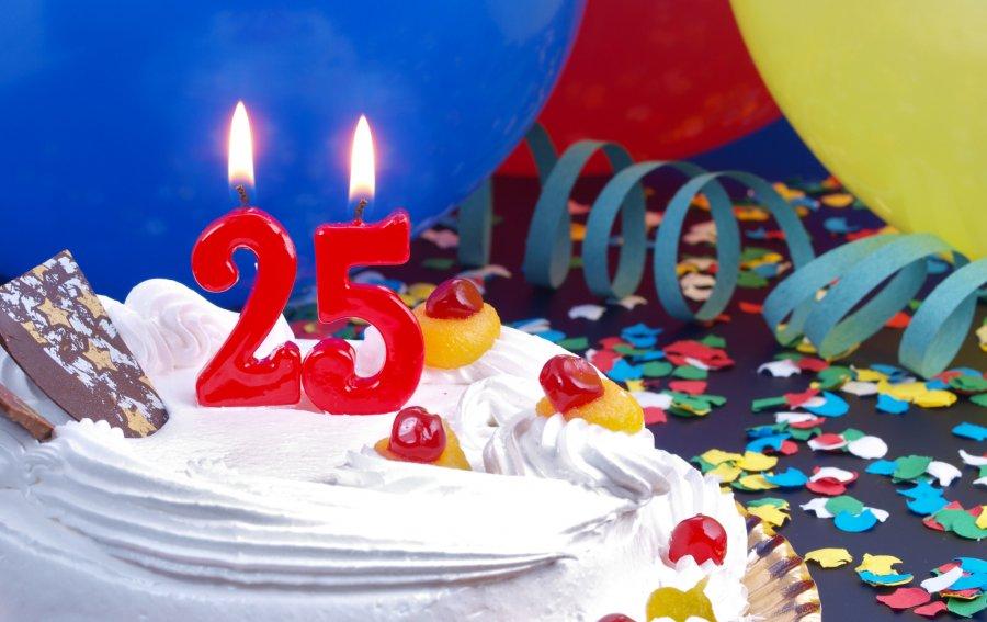 Bild von dem Produkt Zum 25. Geburtstag Vorderseite