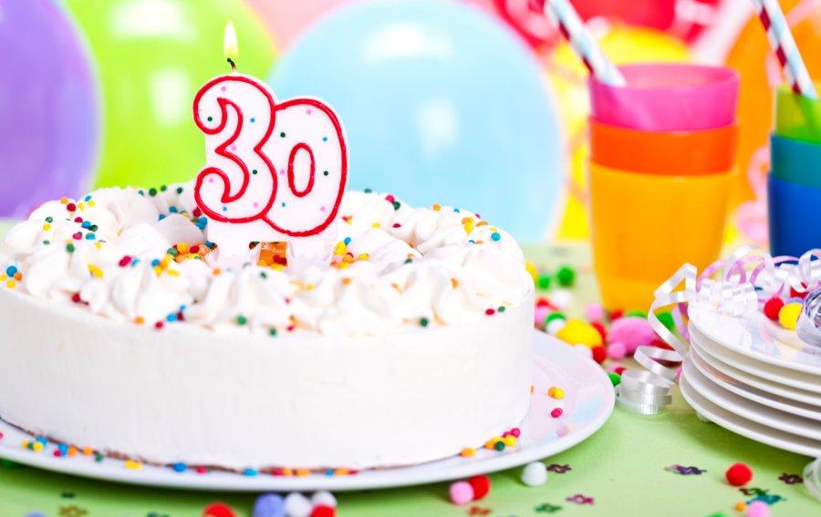 Bild von dem Produkt Zum 30. Geburtstag Vorderseite