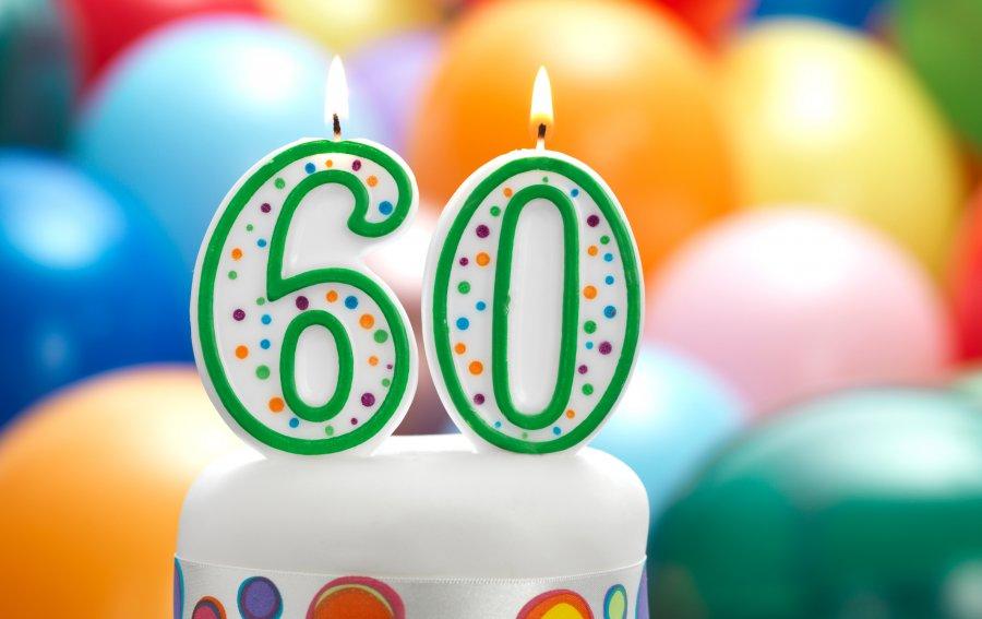Bild von dem Produkt Zum 60. Geburtstag Vorderseite