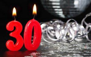 Bild von dem Produkt 30. Geburtstag Kerzen