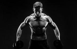 Bild von dem Produkt Bodybuilder mit 2 Hanteln