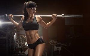 Bild von dem Produkt Brünette Gewichtheberin