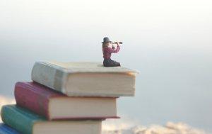 Bild von dem Produkt Bücher mit kleiner Frau