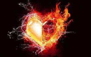 Bild von dem Produkt Herz mit Flamme und Wasser