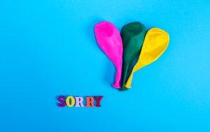 """Bild von dem Produkt Luftballons mit """"Sorry"""""""