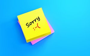 """Bild von dem Produkt Notizblock mit """"Sorry"""""""