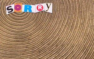 Bild von dem Produkt SORRY auf Baumschnitt
