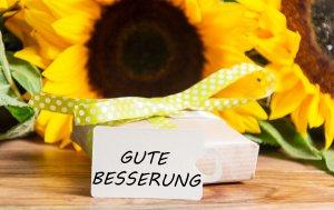 """Bild von dem Produkt Sunflower """"Gute Besserung"""""""