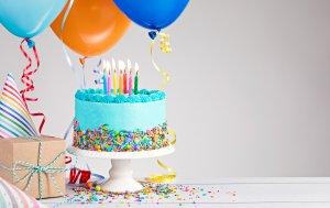 Bild von dem Produkt Torte und Ballons
