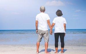 Bild von dem Produkt Verliebtes Seniorenpaar