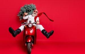 Bild von dem Produkt Weihnachtsmann auf Bike