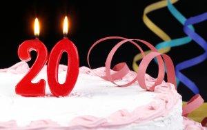 Bild von dem Produkt Zum 20. Geburtstag