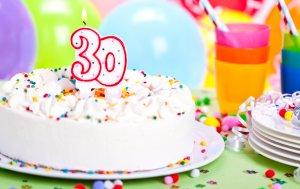 Bild von dem Produkt Zum 30. Geburtstag